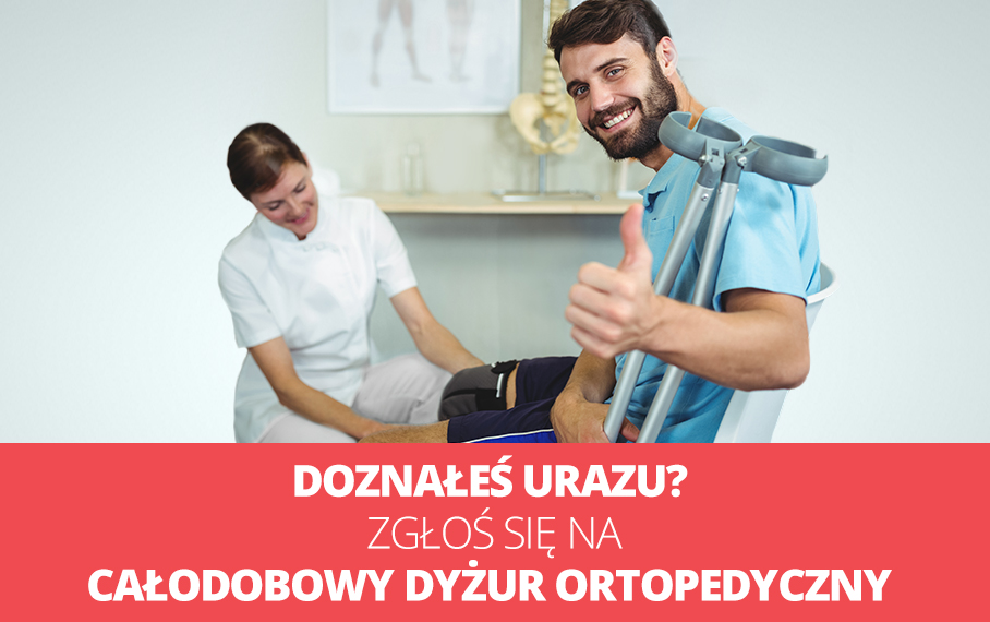 Całodobowa pomoc specjalistów - ortopedów, techników i radiologów - bez kolejek!