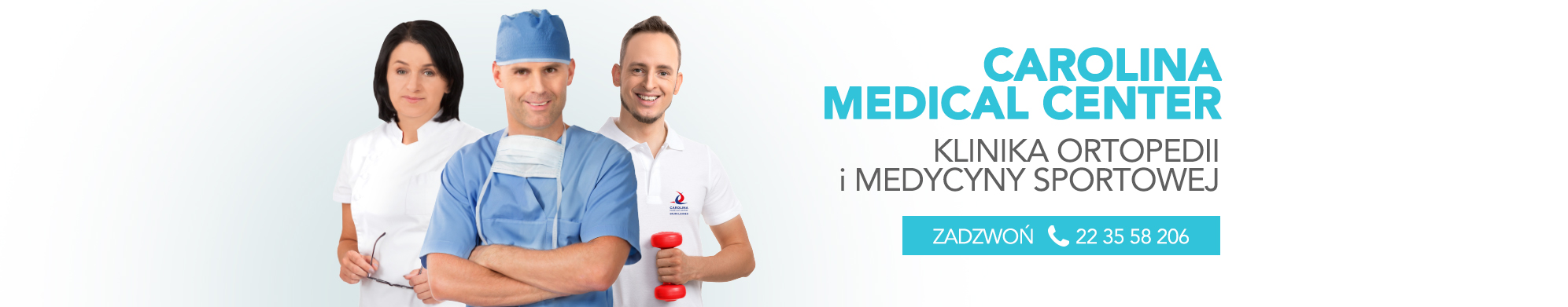 Carolina Medical Center to warszawska klinika ortopedii, chirurgii kręgosłupa, rehabilitacji i medycyny sportowej.