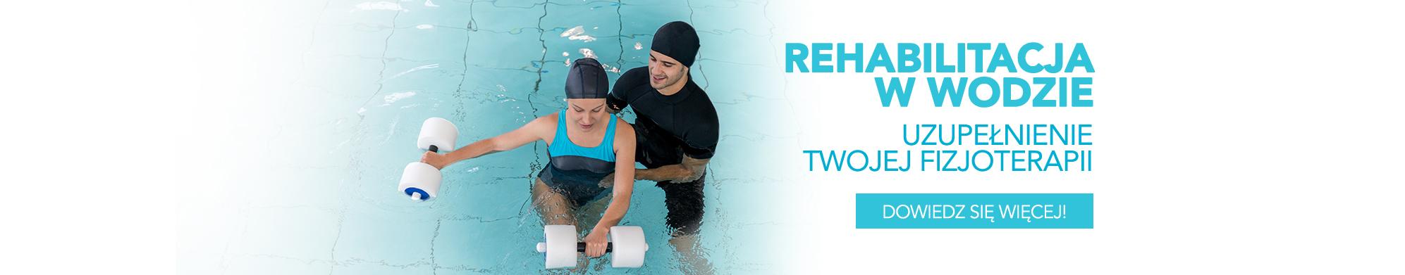 Rehabilitacja w wodzie dedykowana jest dla osób skarżących się bóle stawów biodrowych, barkowych i kręgosłupa.