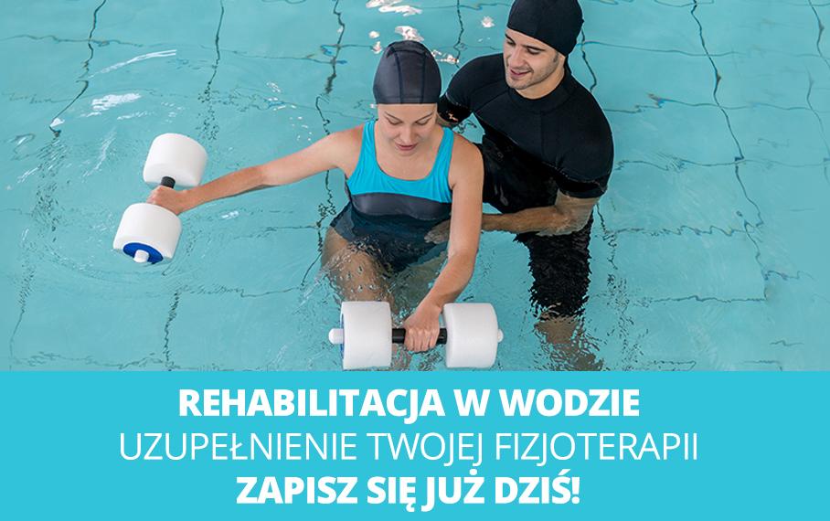Rehabilitacja w wodzie to idealne uzupełnienie procesu fizjoterapii. Skraca proces leczenia.