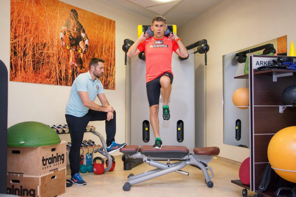 Robert Korzeniowski - trening z trenerem przygotowania motorycznego Carolina Medical Center, Dorianem Łomżą