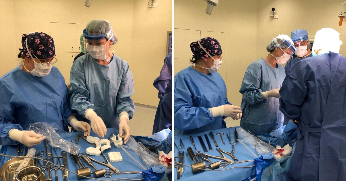 Wszczepienie indywidualnejszytej na miarę protezy custom made.