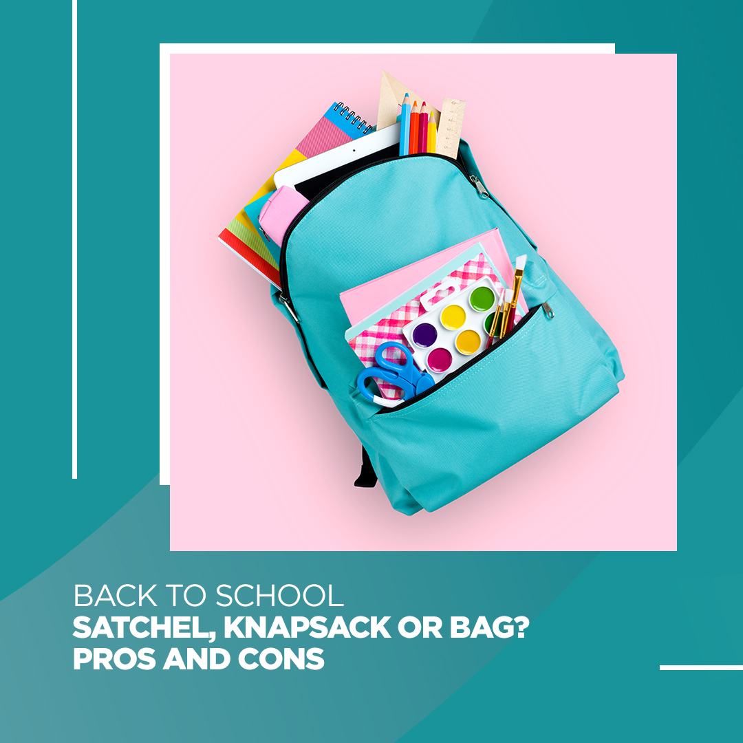 Satchel, knapsack or bag - which is healthier for the spine? Both the satchel and the knapsack have advantages and disadvantages.